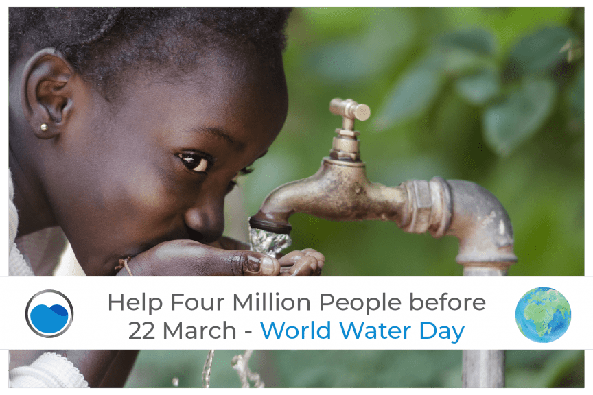 Help Four Million People Before 22 March - World Water Day