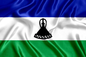 The national flag of Lesotho
